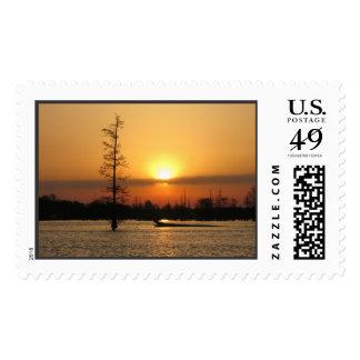Arkansas Sunrise on Millwood Lake Postage