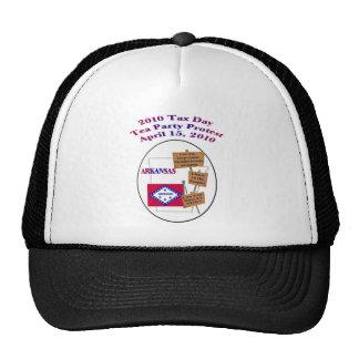 Arkansas Tax Day Tea Party Protest Baseball Cap Trucker Hat