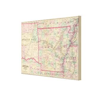 Arkansas, territorio indio lienzo envuelto para galerias
