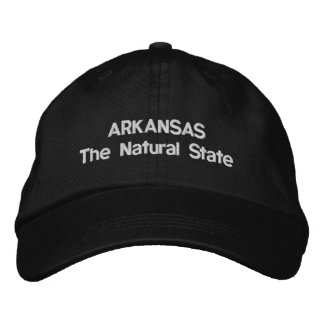 Arkansas The Natural State Embroidered Baseball Hat