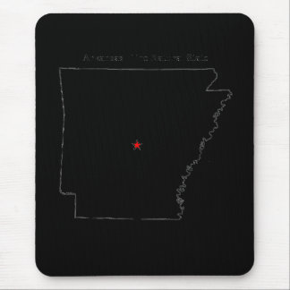 Arkansas The Natural State Mouse Pad