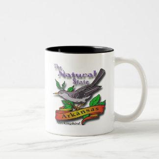 Arkansas The Nature State Mockingbird Two-Tone Coffee Mug