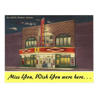 Arkansas, The Scott Theater Postcard