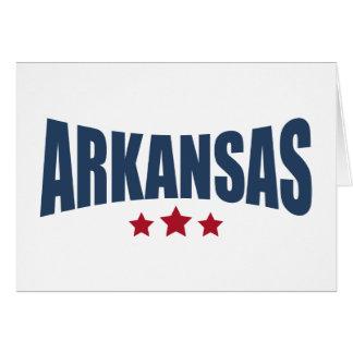 Arkansas Three Stars Design Greeting Cards