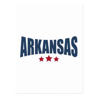 Arkansas Three Stars Design Post Card