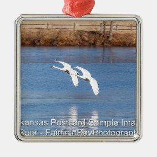 Arkansas Trumpeter Swans Metal Ornament