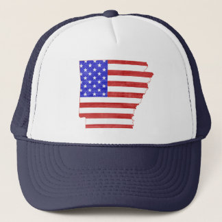Arkansas USA silhouette state map Trucker Hat