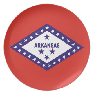 arkansas usa state flag plate america