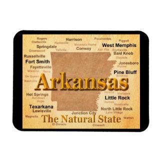 Arkansas Vintage Style Map Rectangular Photo Magnet