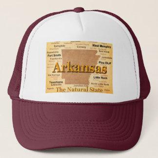 Arkansas Vintage Style Map Trucker Hat