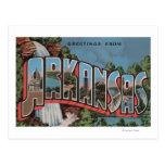 Arkansas (Waterfall Scene) - Large Letter Scenes Postcard