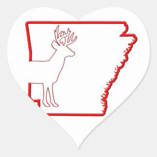 Arkansas White-Tailed Deer Heart Sticker