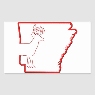 Arkansas White-Tailed Deer Rectangle Stickers