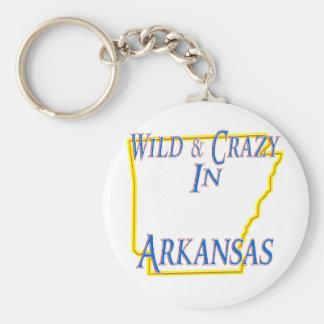 Arkansas - Wild and Crazy Basic Round Button Keychain
