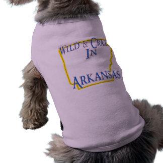 Arkansas - Wild and Crazy Dog T Shirt