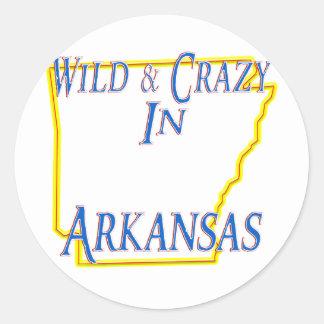 Arkansas - Wild and Crazy Classic Round Sticker