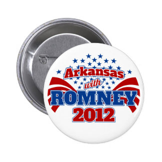 Arkansas with Romney 2012 Button