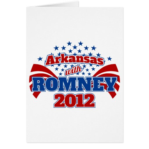 Arkansas with Romney 2012 Greeting Card