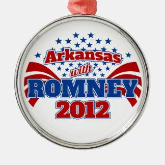 Arkansas with Romney 2012 Metal Ornament