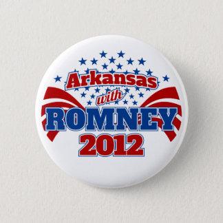 Arkansas with Romney 2012 Pinback Button