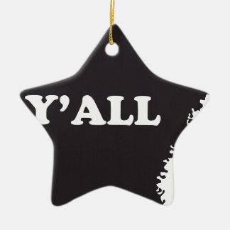 Arkansas Yall Ceramic Ornament