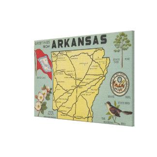 ArkansasLarge Letter ScenesArkansas Canvas Print
