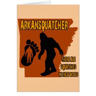 Arkansquatcher Greeting Cards