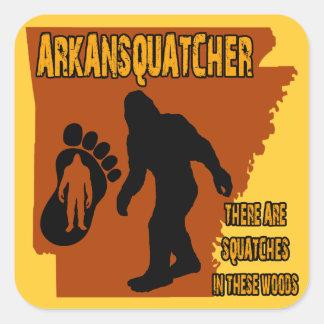 Arkansquatcher Calcomania Cuadradas Personalizada