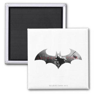 Arkham City Bat Symbol 2 Inch Square Magnet