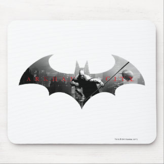 Arkham City Bat Symbol Mouse Pad