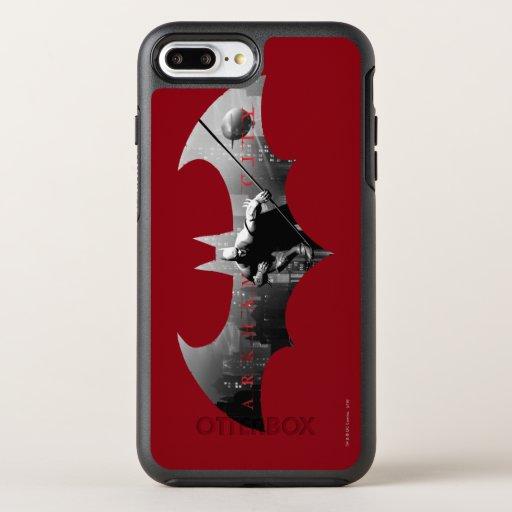 Arkham City Bat Symbol OtterBox Symmetry iPhone 8 Plus/7 Plus Case