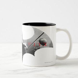 Arkham City Bat Symbol Two-Tone Coffee Mug