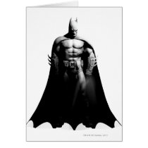 Arkham City | Batman Black and White Wide Pose Card