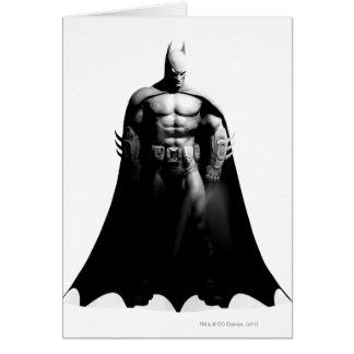 Arkham City   Batman Black and White Wide Pose Card