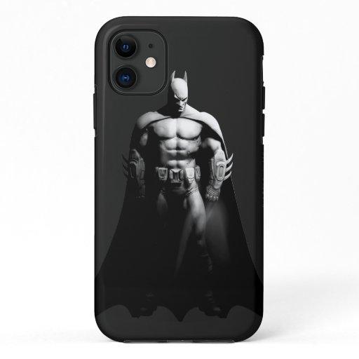 Arkham City | Batman Black and White Wide Pose iPhone 11 Case