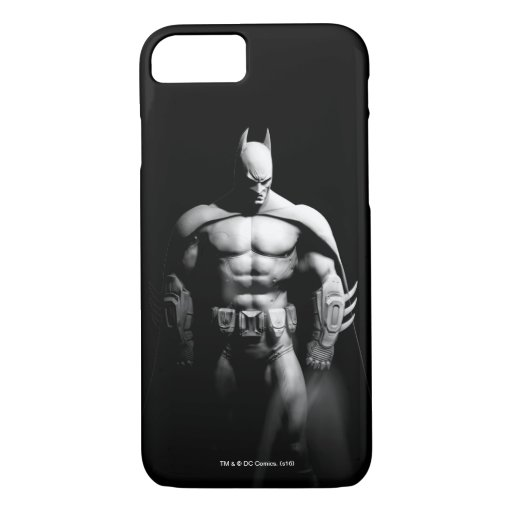 Arkham City | Batman Black and White Wide Pose iPhone 8/7 Case