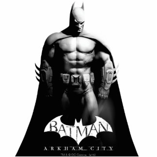 Arkham City   Batman Black and White Wide Pose Cutout