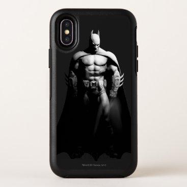 Arkham City | Batman Black and White Wide Pose OtterBox Symmetry iPhone X Case