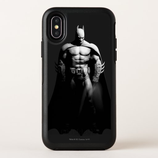 Arkham City | Batman Black and White Wide Pose OtterBox Symmetry iPhone X Case