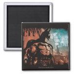 Arkham City Batman mixed media 2 Inch Square Magnet