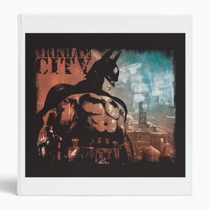Arkham City Batman mixed media Binder