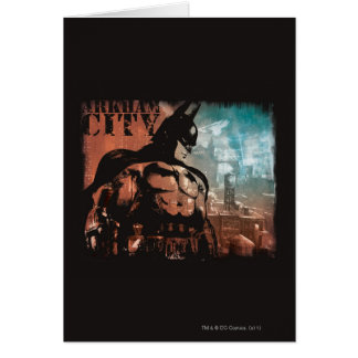 Arkham City Batman mixed media Card