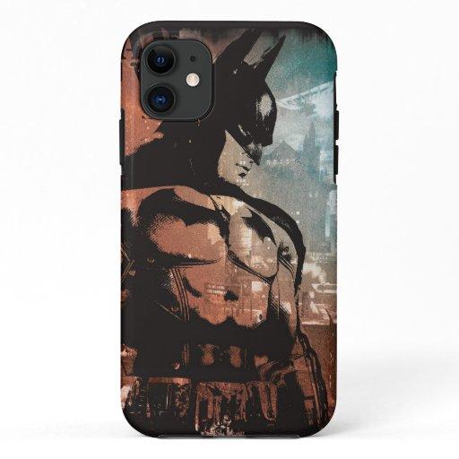 Arkham City Batman mixed media iPhone 11 Case