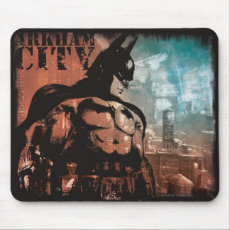 Arkham City Batman mixed media Mouse Pad