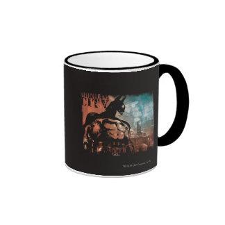 Arkham City Batman mixed media Ringer Mug