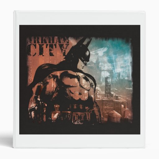 Arkham City Batman mixed media Vinyl Binder