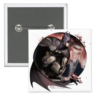 Arkham City Batman Moon 2 Inch Square Button