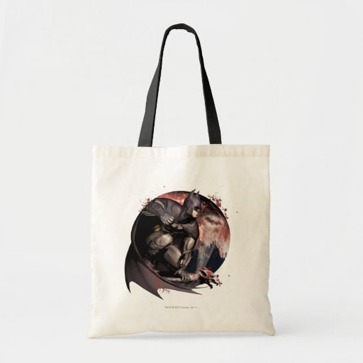 Arkham City Batman Moon Canvas Bag