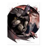 Arkham City Batman Moon Postcard