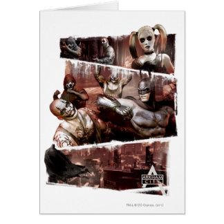 Arkham City Characters Trifold Card